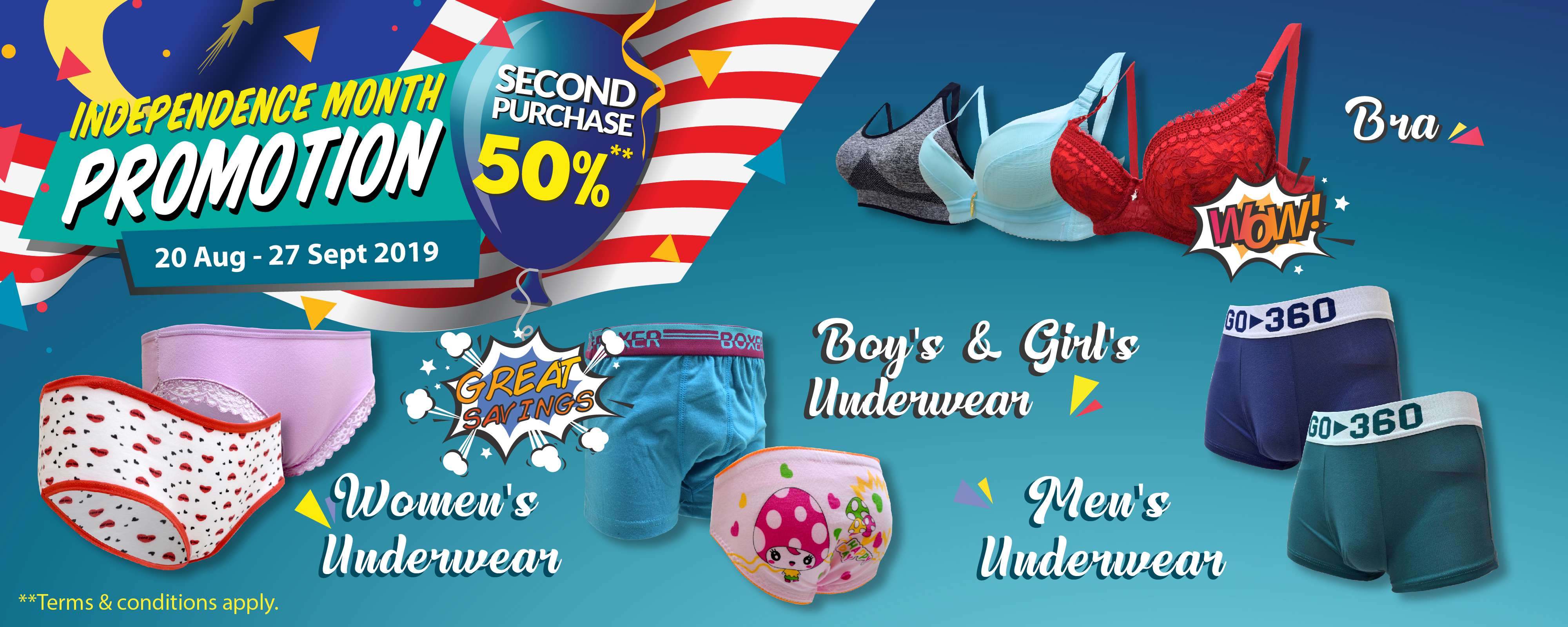 Independence Month Promotion
