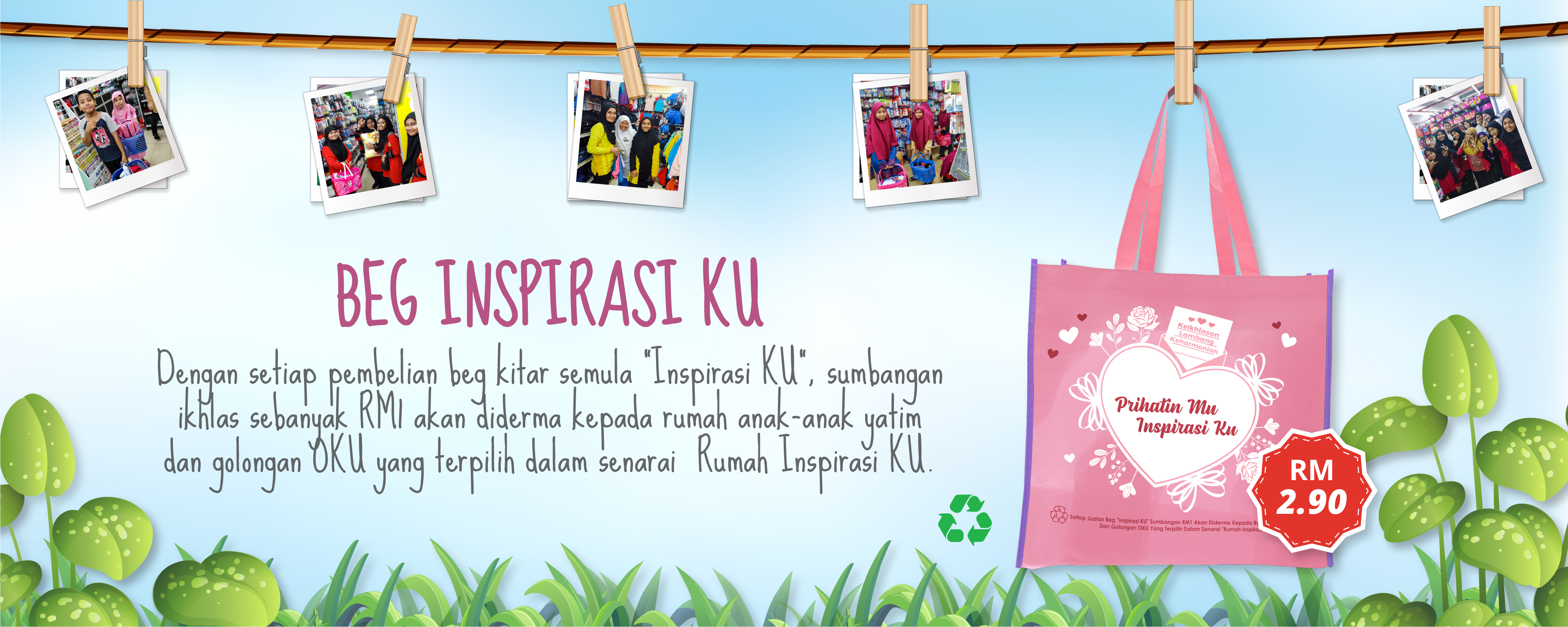 Beg Inspirasi KU 2020-1 Pink mix Purple
