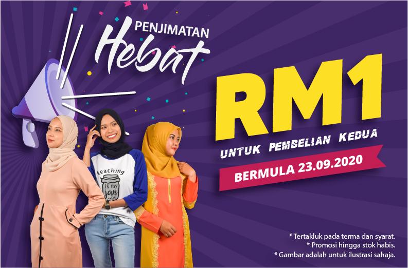 Promosi Pakaian RM1