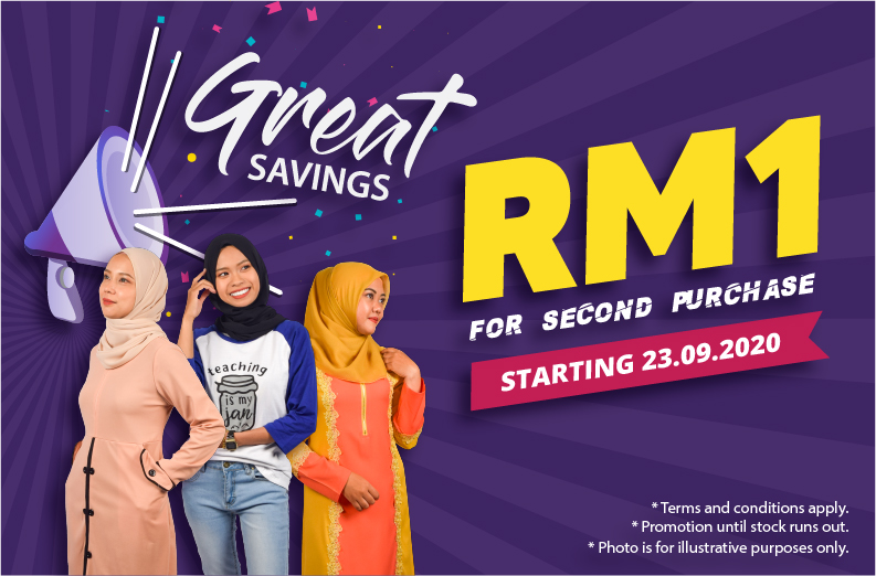 Clothing Promotion RM1